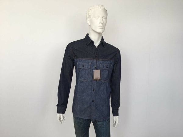 Bi-Material Denim Shirt