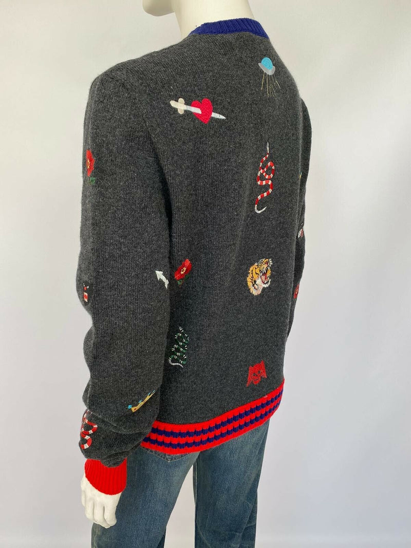 Gucci Wool Sweater With Embroideries - Luxuria & Co.