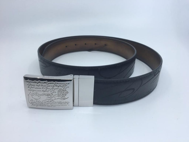 Berluti Reversible Scritto Belt - Luxuria & Co.