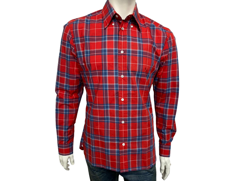 Louis Vuitton Long Sleeve Plaid Shirt - Luxuria & Co.