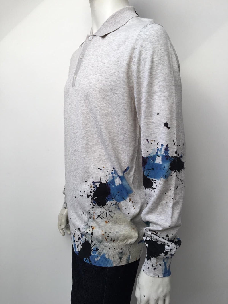 Louis Vuitton Long Sleeve Paint Polo - Luxuria & Co.