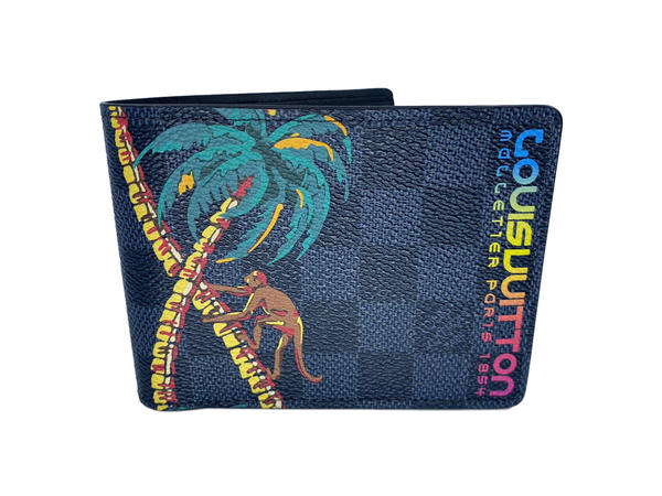 Multiple Wallet Damier Cobalt Jungle Palm Tree