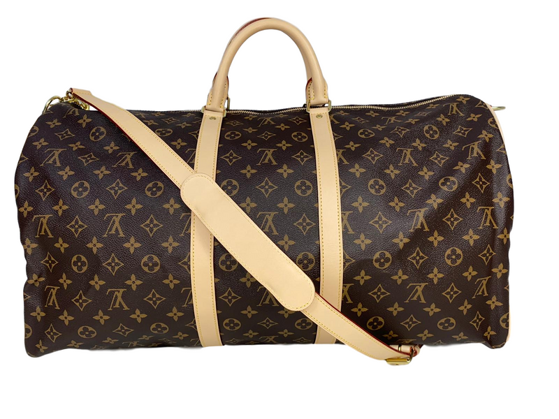 Louis Vuitton Monogram Canvas Keepall Bandouliere 55 - Luxuria & Co.