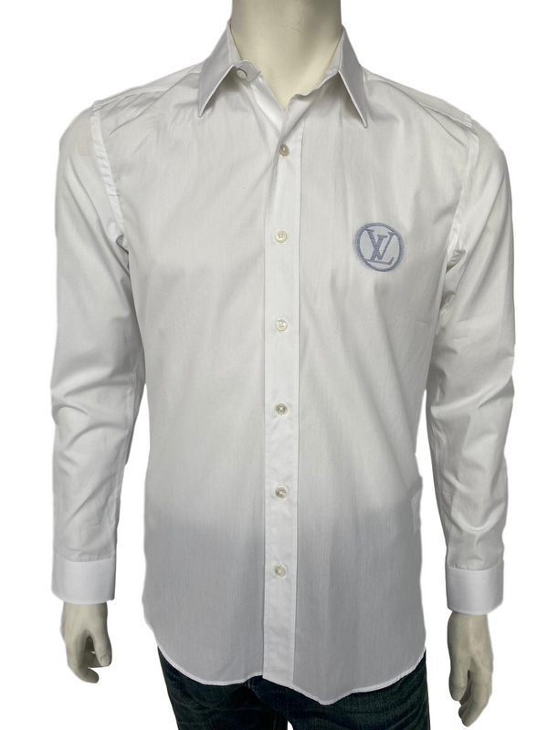Louis Vuitton Fil Coupe Classic Shirt Circled LV Logo - Luxuria & Co.