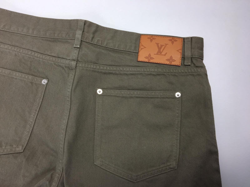 Louis Vuitton Monogram Patch Slim Jeans - Luxuria & Co.