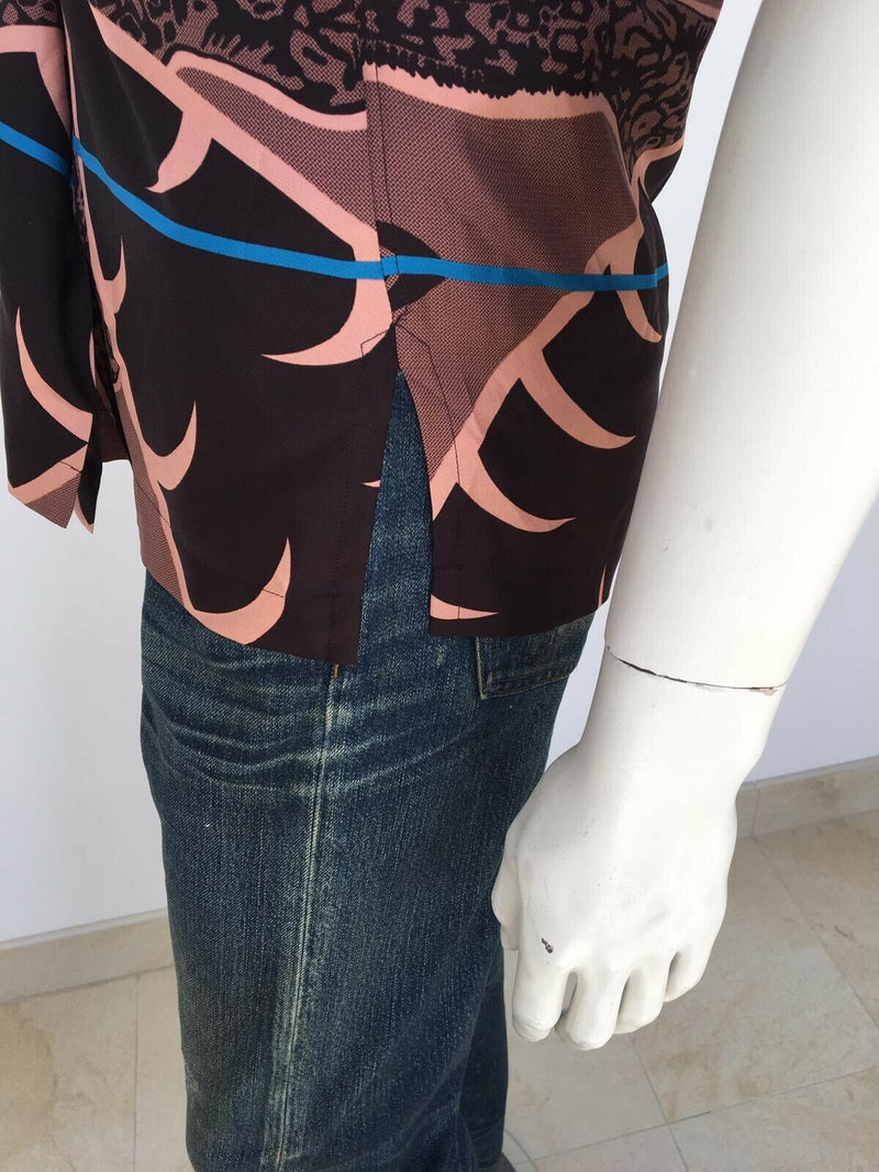 Louis Vuitton Chapman Giraffe Short Sleeve Silk Shirt - Luxuria & Co.
