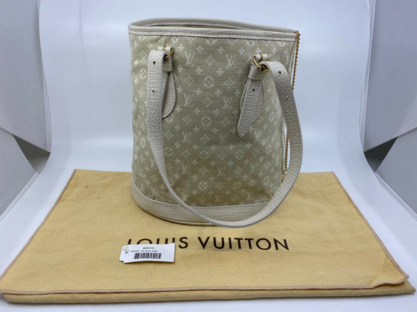 Louis Vuitton Dune Monogram Mini Lin Bucket PM Bag - Luxuria & Co.