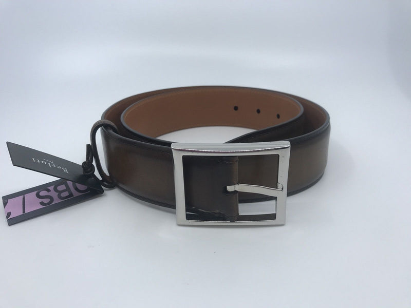 Berluti Classic Tobacco Belt - Luxuria & Co.