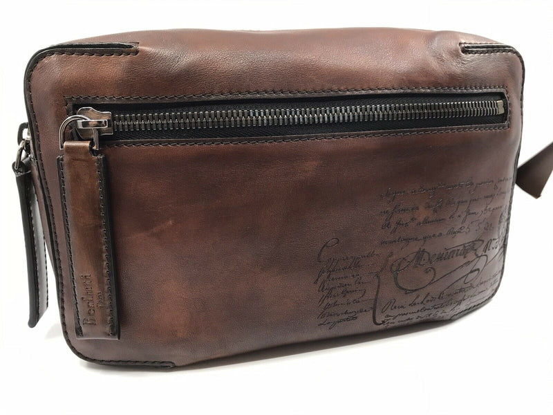 Berluti Pilote II Scritto Messenger Bag - Luxuria & Co.