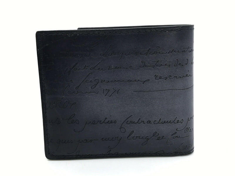 Berluti Makore Scritto Leather Compact Wallet - Luxuria & Co.