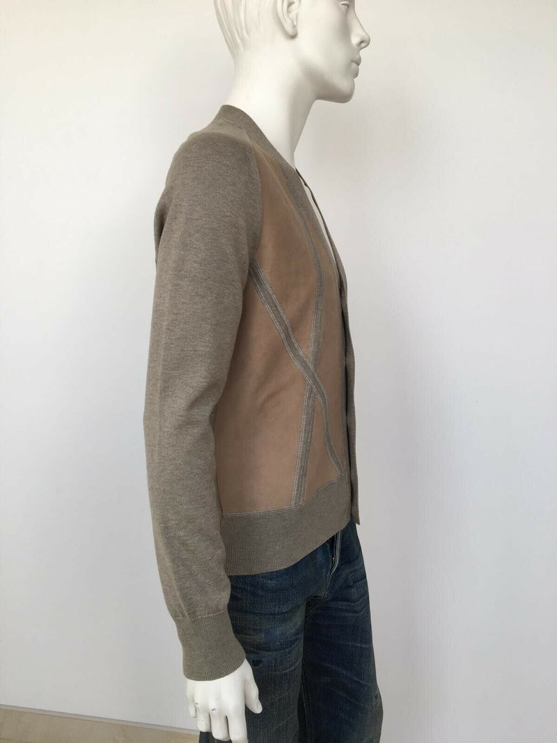 Louis Vuitton Leather Front Cardigan - Luxuria & Co.