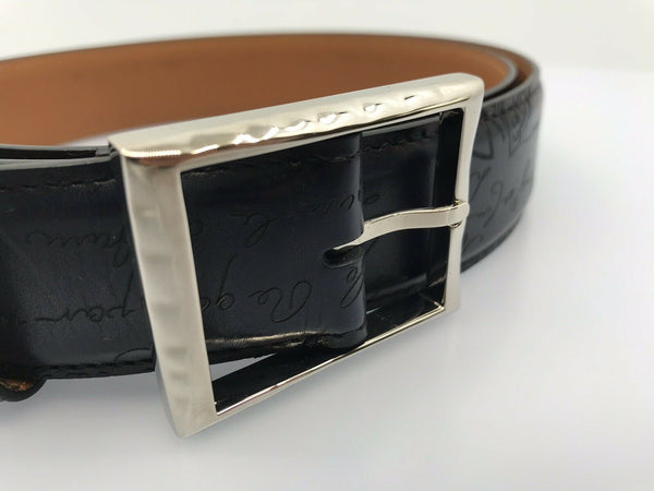Berluti Classic Scritto Meteorite Belt - Luxuria & Co.