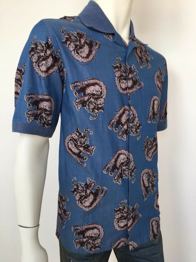 Louis Vuitton Chapman Elephant Knit Collar Shirt - Luxuria & Co.