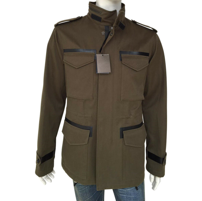Leather Trim Field Jacket