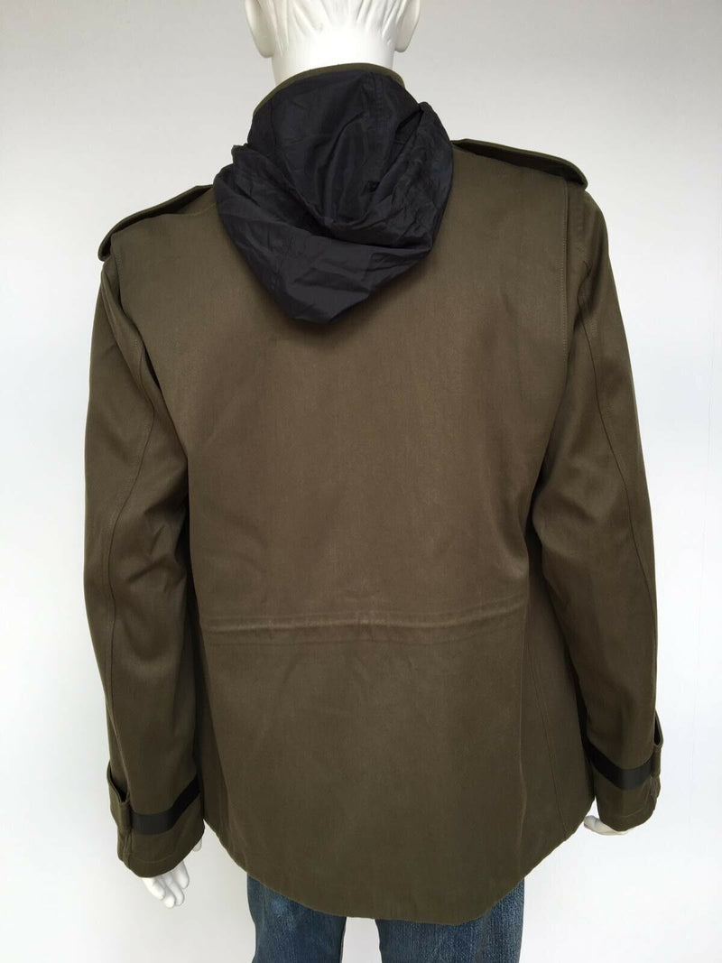 Berluti Leather Trim Field Jacket - Luxuria & Co.