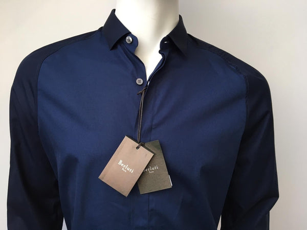Berluti Bicolor Poplin Shirt - Luxuria & Co.