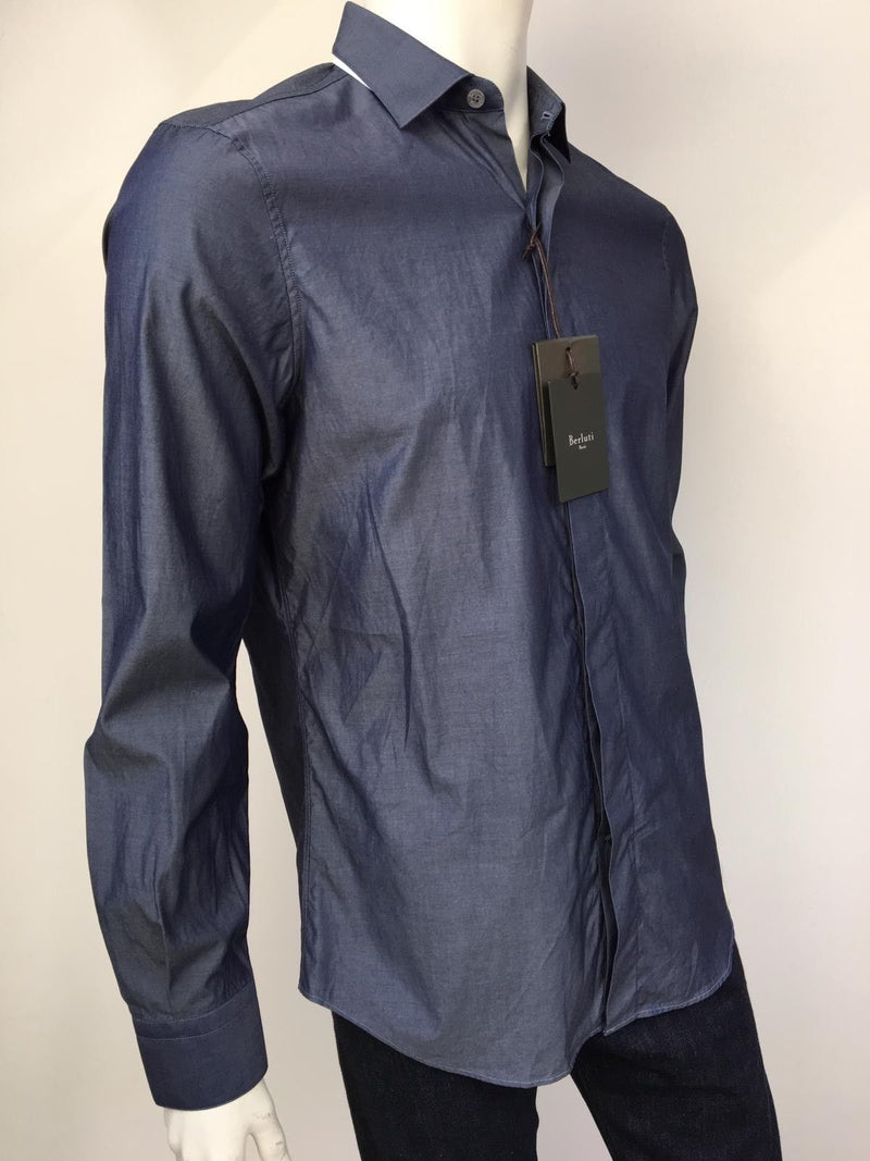 Berluti Chambray Slim Collar Shirt - Luxuria & Co.