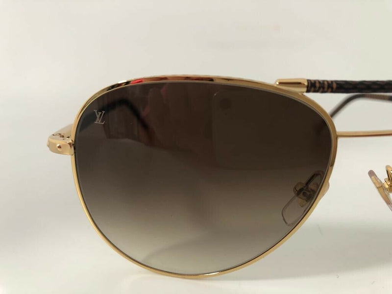 Louis Vuitton Conspiration Pilote Damier Ebene Sunglasses - Luxuria & Co.