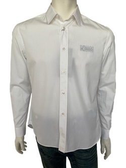 Louis Vuitton Classic Collar Shirt With Louis Logo - Luxuria & Co.