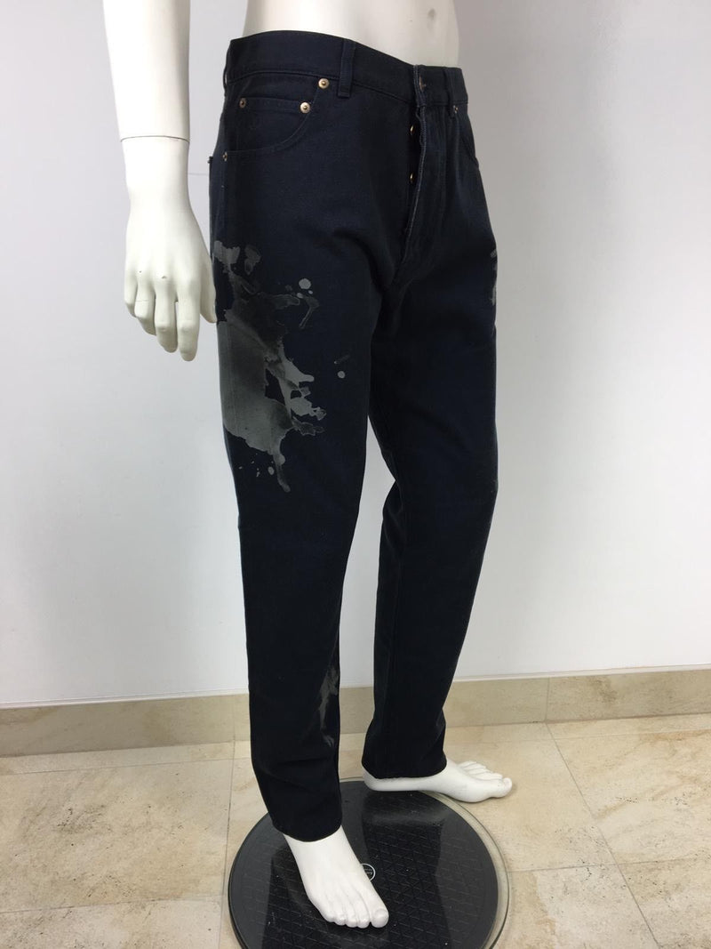 Louis Vuitton Limited Edition Paint Splash Jeans - Luxuria & Co.