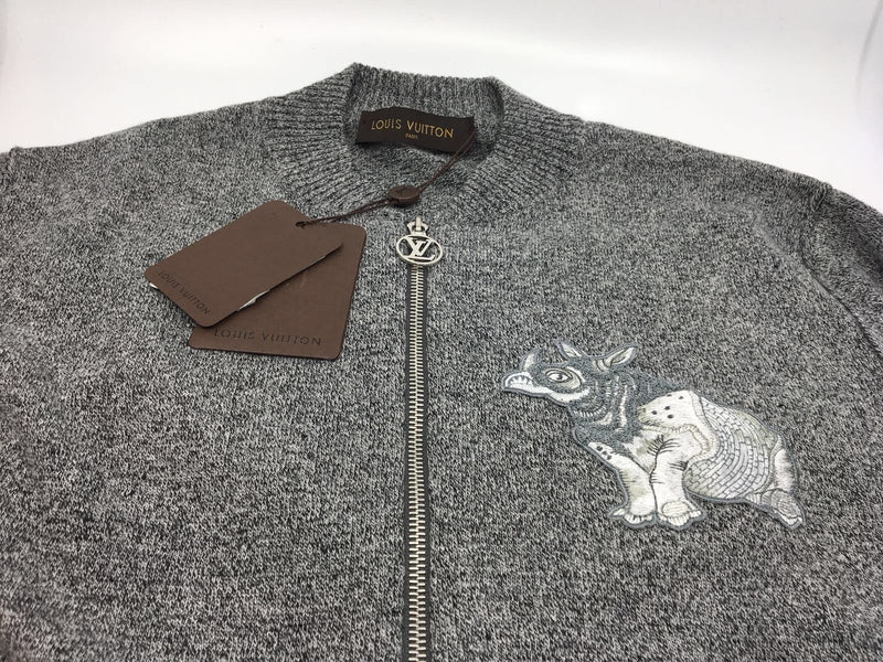 Louis Vuitton Chapman Rhinoceros Patch Sweater - Luxuria & Co.