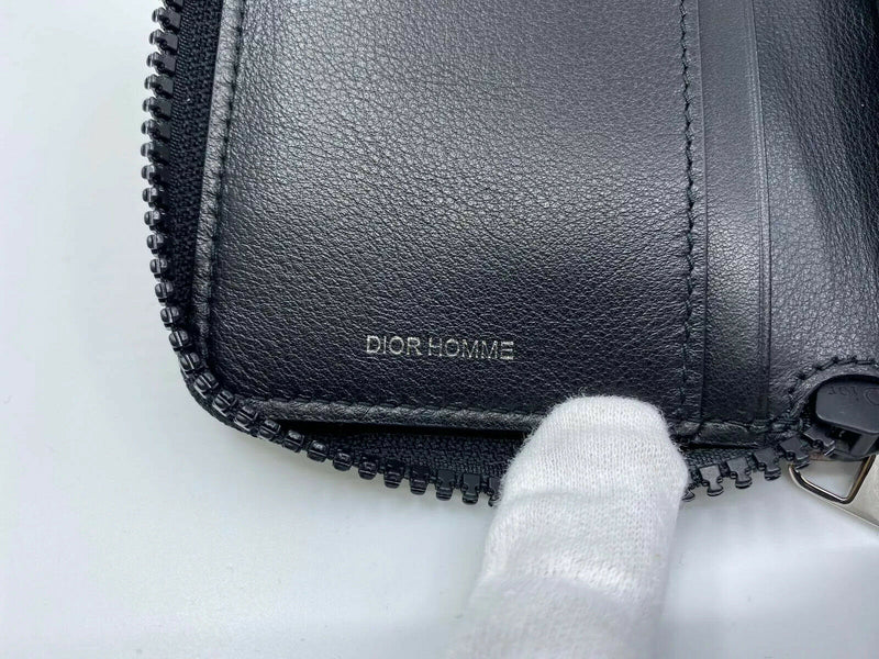 Dior Homme Zip Around Compact Wallet - Luxuria & Co.