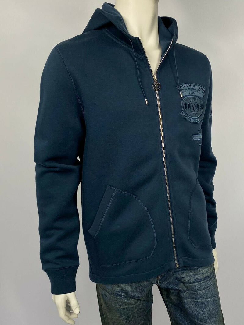 Louis Vuitton Fine Patches Travel Zip Up Hoodie - Luxuria & Co.