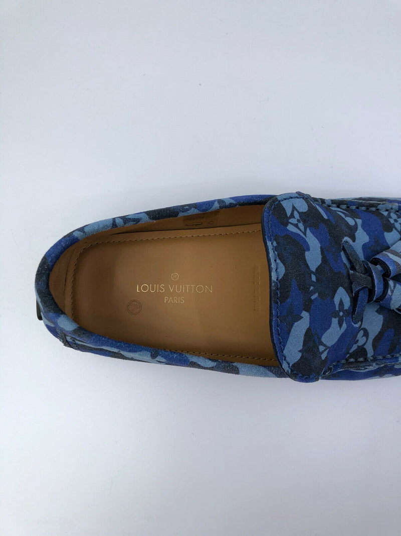 Louis Vuitton Camo Monogram Mocassins - Luxuria & Co.