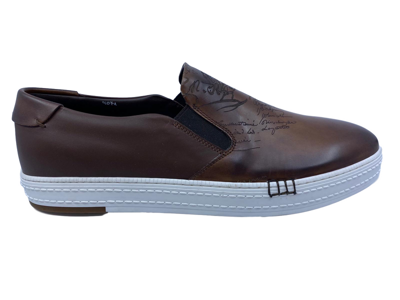 Berluti Playtime Palermo Scritto Calf Leather Sneaker - Luxuria & Co.