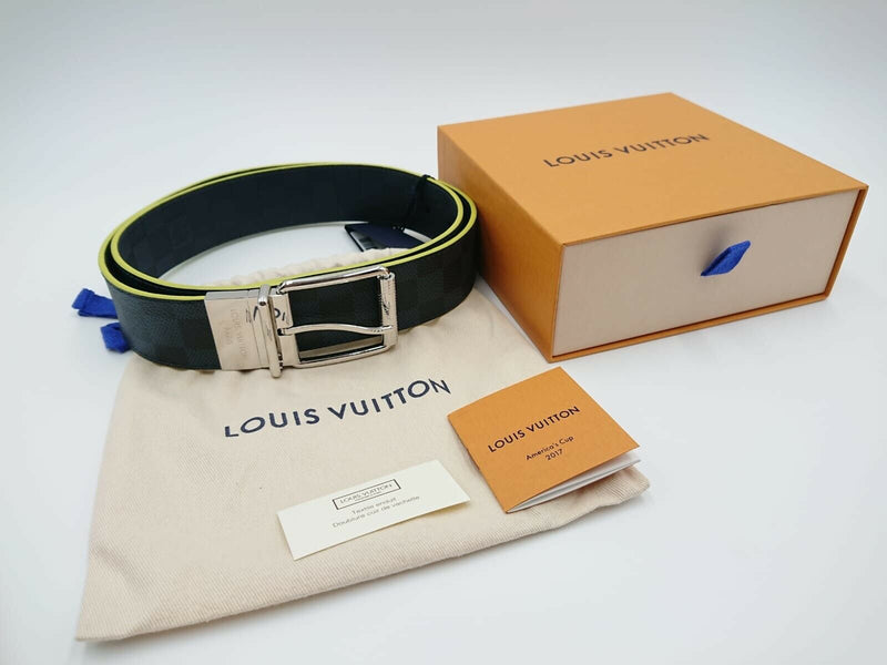 Louis Vuitton Reversible Damier Print Belt - Luxuria & Co.