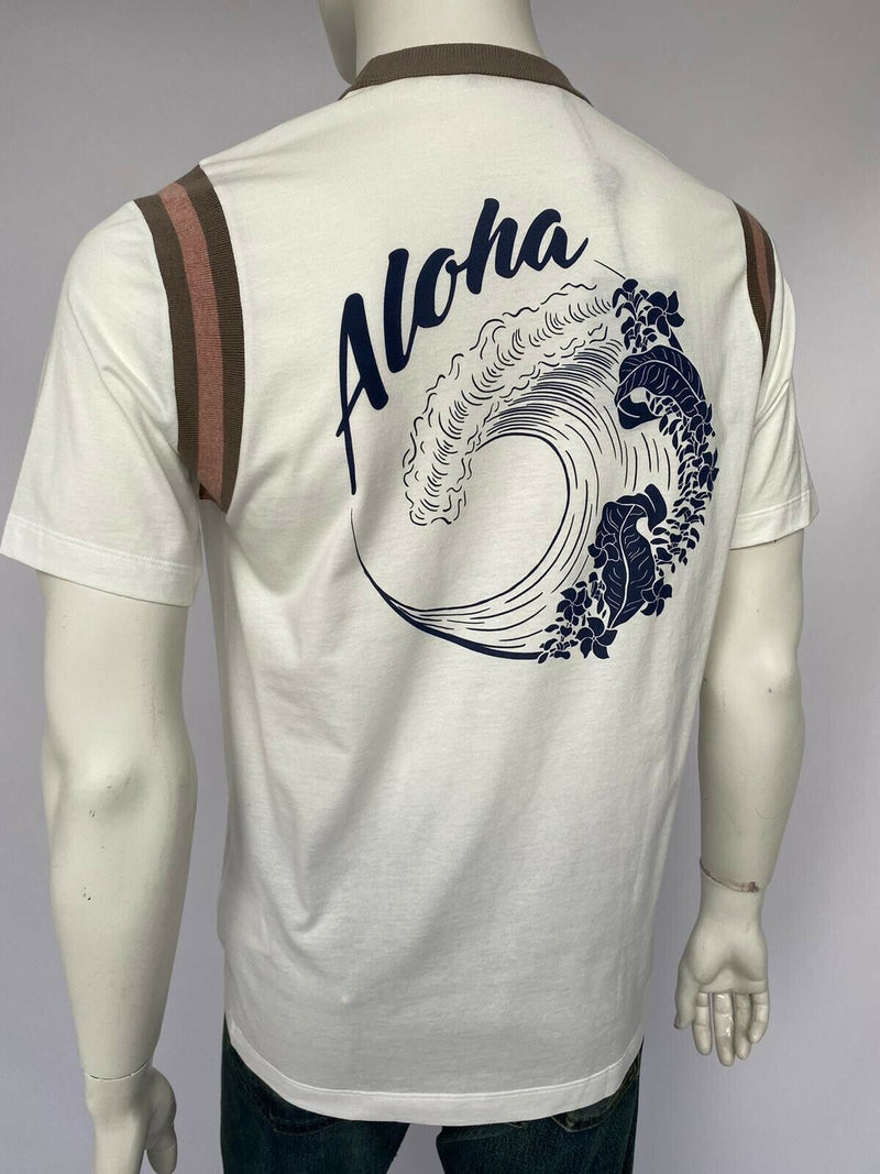 Louis Vuitton Varsity Printed Aloha T-Shirt - Luxuria & Co.