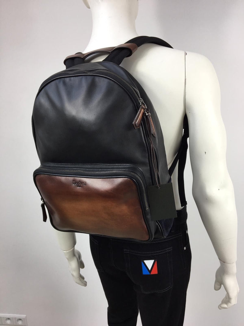 Berluti Time Off Vitello Leather Backpack - Luxuria & Co.