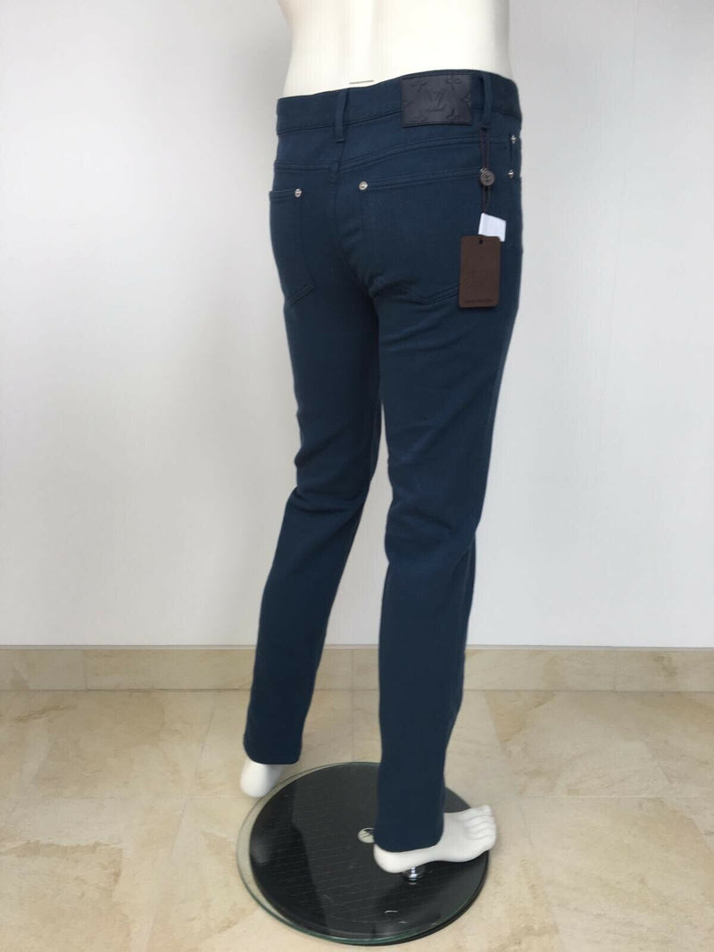 Louis Vuitton Monogram Patch Corduroy Slim Jeans - Luxuria & Co.