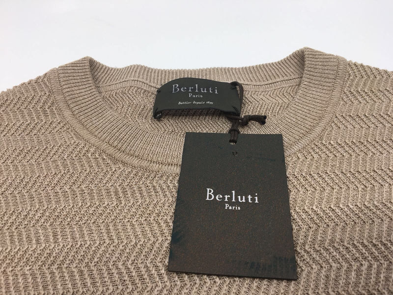 Berluti Fancy Silk Crewneck Sweater - Luxuria & Co.