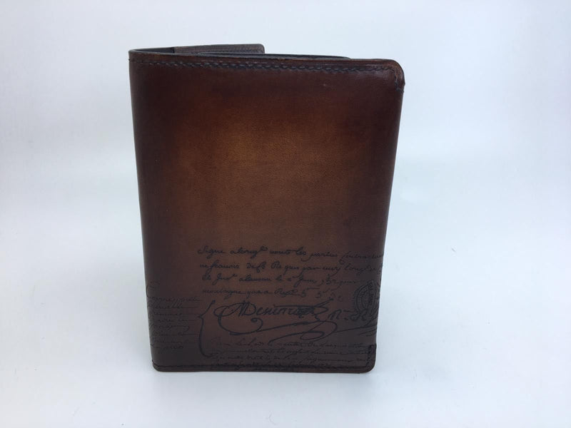 Berluti Escale Engraved Calf Leather Passport Holder - Luxuria & Co.