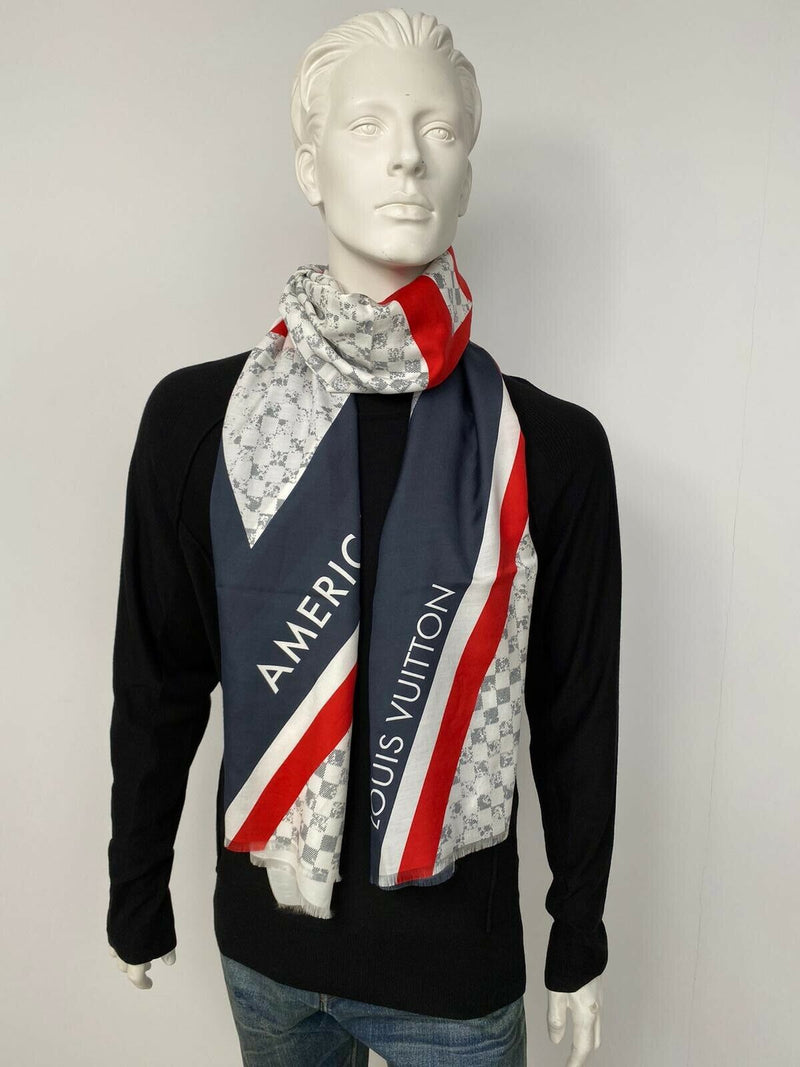 Louis Vuitton Damier Latitude Scarf - Luxuria & Co.