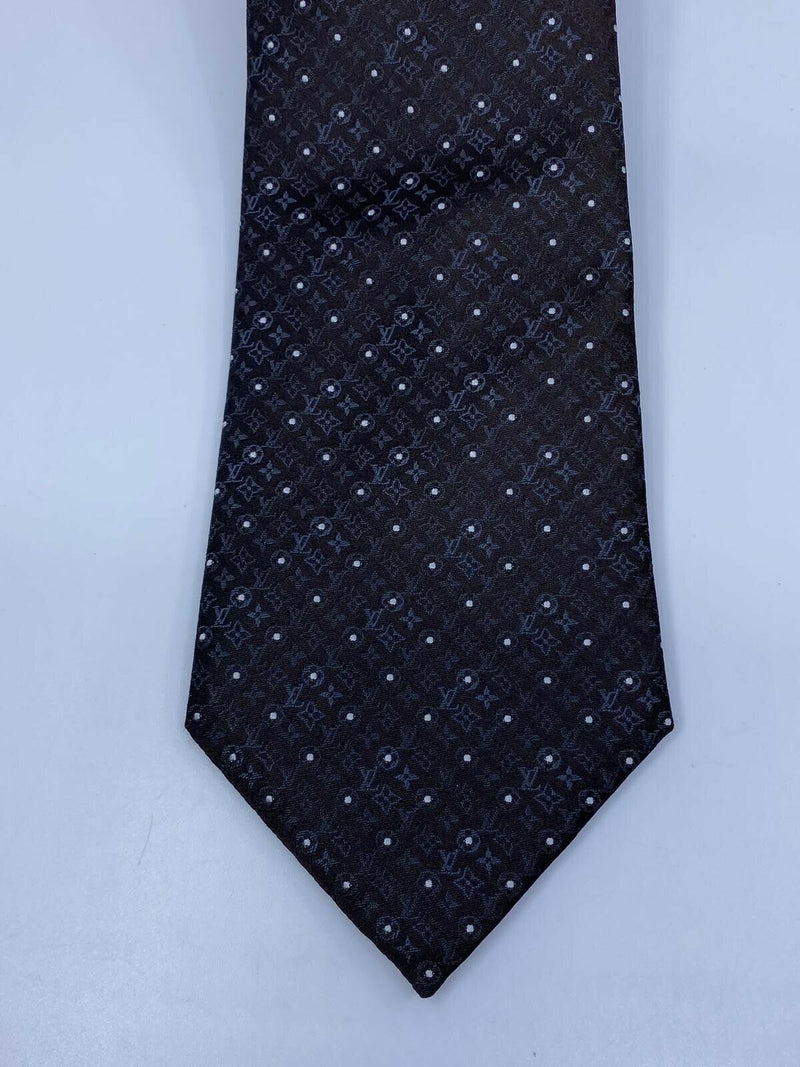 Louis Vuitton Monogram Silk Tie - Luxuria & Co.