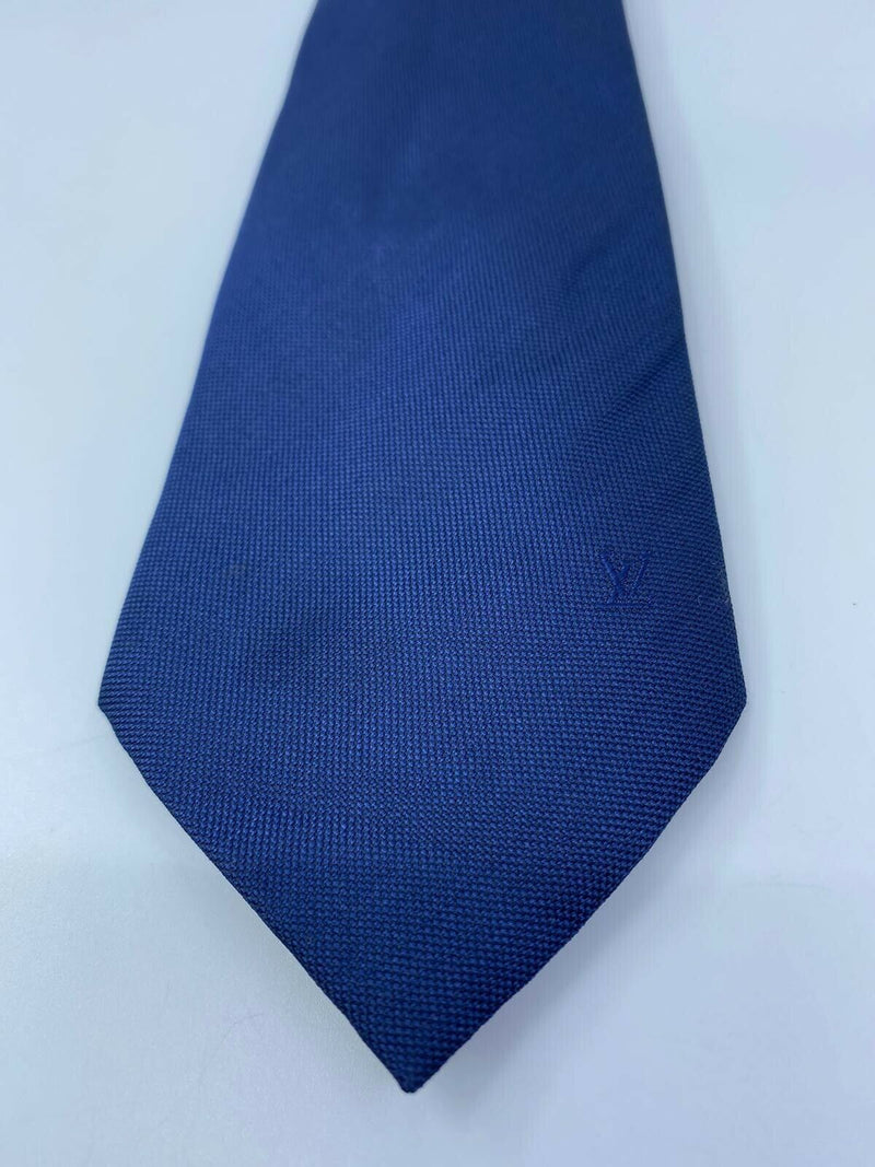 Louis Vuitton Uniformes Blue Orange Woven Silk Tie - Luxuria & Co.