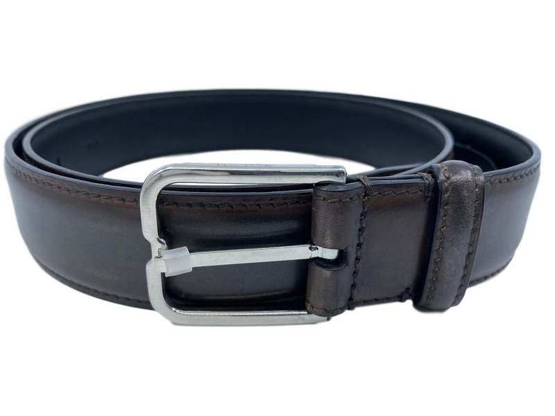 Berluti Essence Scritto Leather Belt - Luxuria & Co.