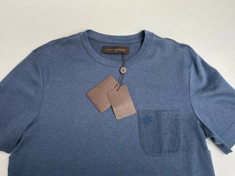 Louis Vuitton Damier Pocket Crewneck T-Shirt - Luxuria & Co.