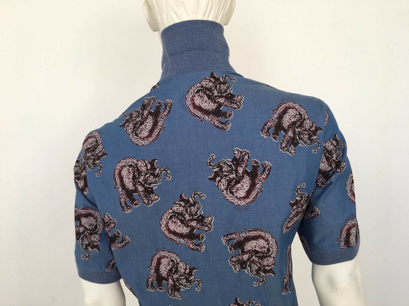 Chapman Elephant Knit Collar Shirt