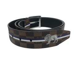 Louis Vuitton Kim Jones Chapman Brothers Damier Lion Belt - Luxuria & Co.