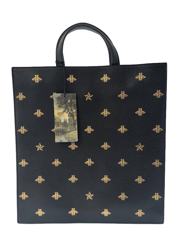 Gucci Bee Star Leather Tote - Luxuria & Co.
