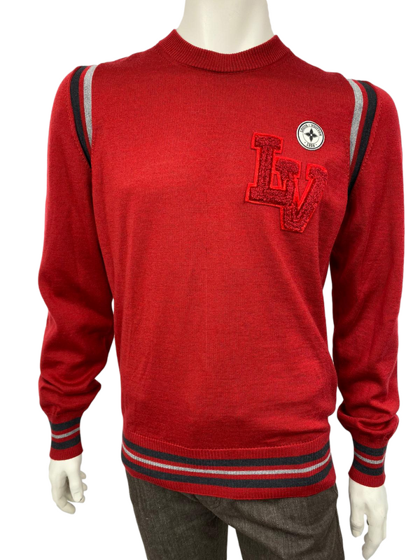 Varsity Crewneck Sweater With Patches