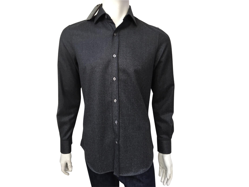 Berluti Flannel Open Shirt - Luxuria & Co.