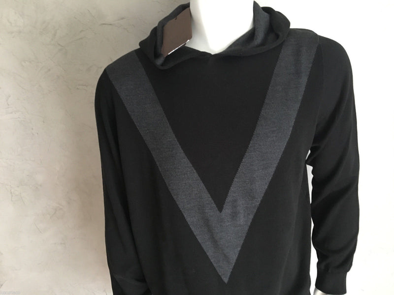 Louis Vuitton Hooded Pull With Silk V - Luxuria & Co.