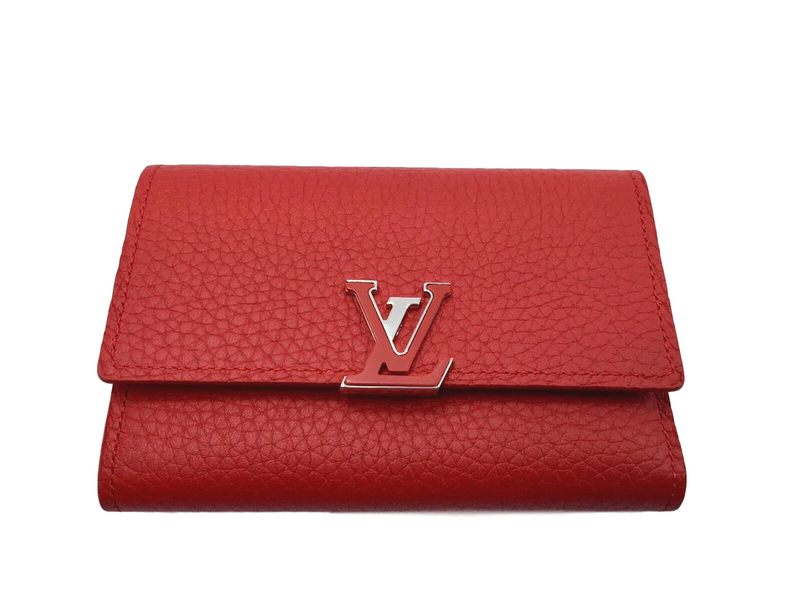 Louis Vuitton Capucines Compact Wallet Rubis - Luxuria & Co.