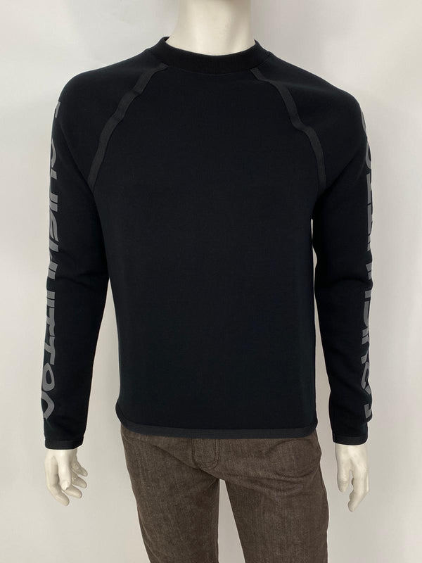 Scuba Style Sweater With Reflective Print