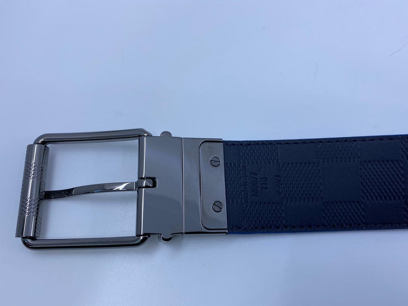 Damier Print Reversible Belt