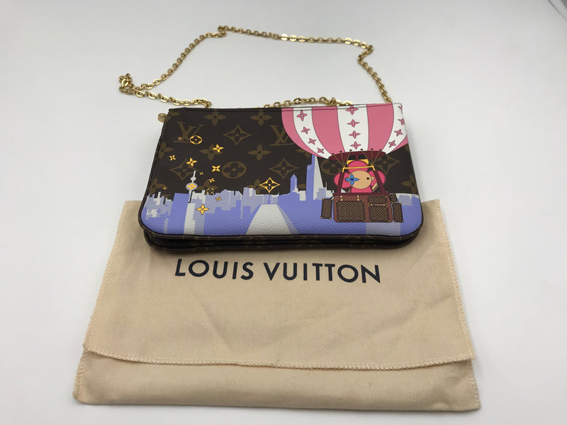 Louis Vuitton Double Zip Pochette Christmas Animation 2019 - Luxuria & Co.